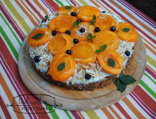 Сурова торта с Арманяк и кайсии