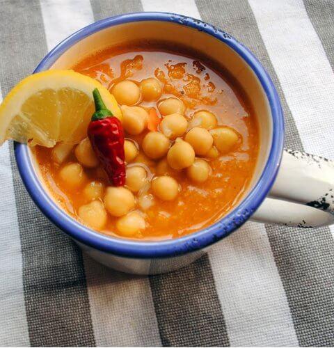 морковена крем супа с нахут - вкусът на Мароко