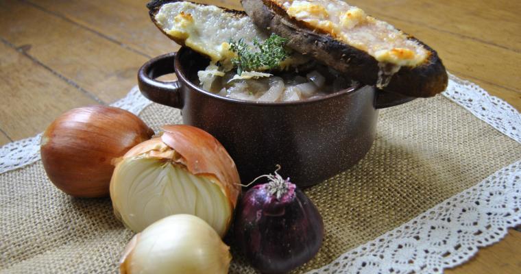 French_onion_soup/Лучена супа с Перно и вишновка
