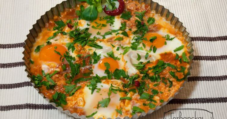 Shakshuka- Israeli eggs with tomato sauce
