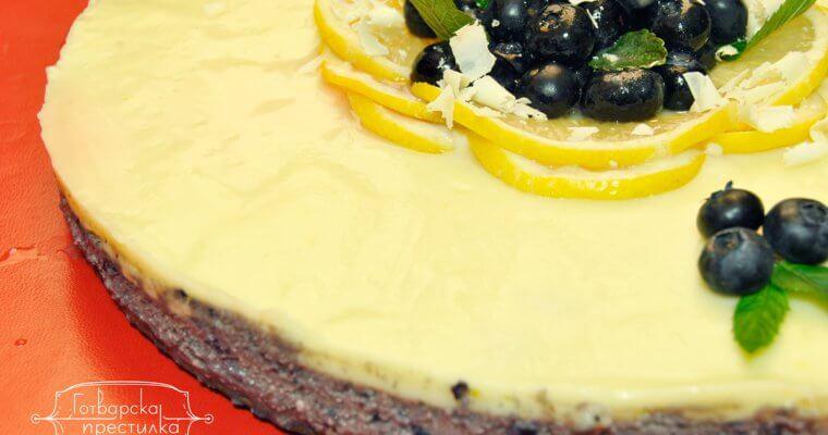 Боровинкова торта с бял шоколад