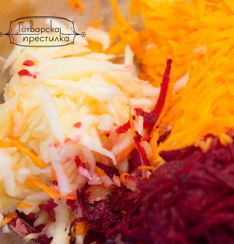 салата Витамина с моркови и цвекло