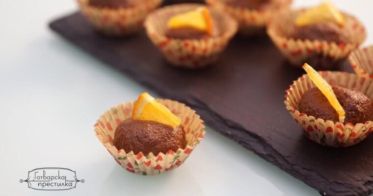 сурови какаови бонбони с портокал и без захар