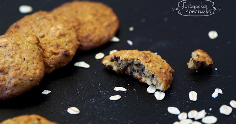 Овесени бисквити с фъстъчено масло без захар