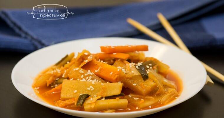Кимчи - веган рецепта