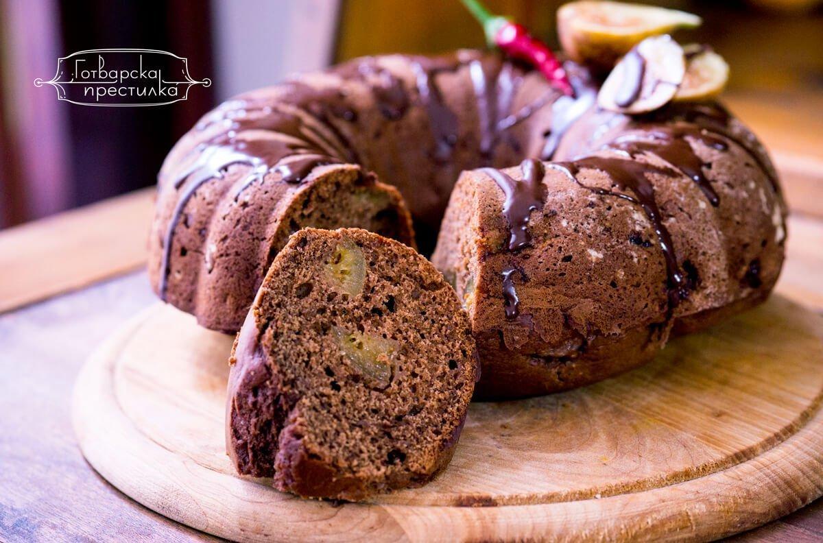 шоколадов кекс със смокини