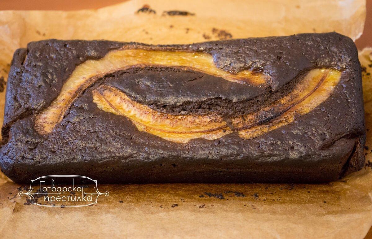 шоколадово бананв кекс