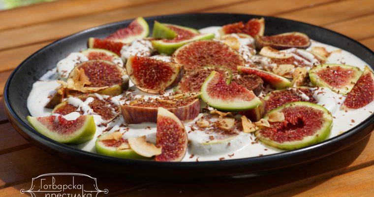 Свежи смокини с богат кашу крем – веган рецепта