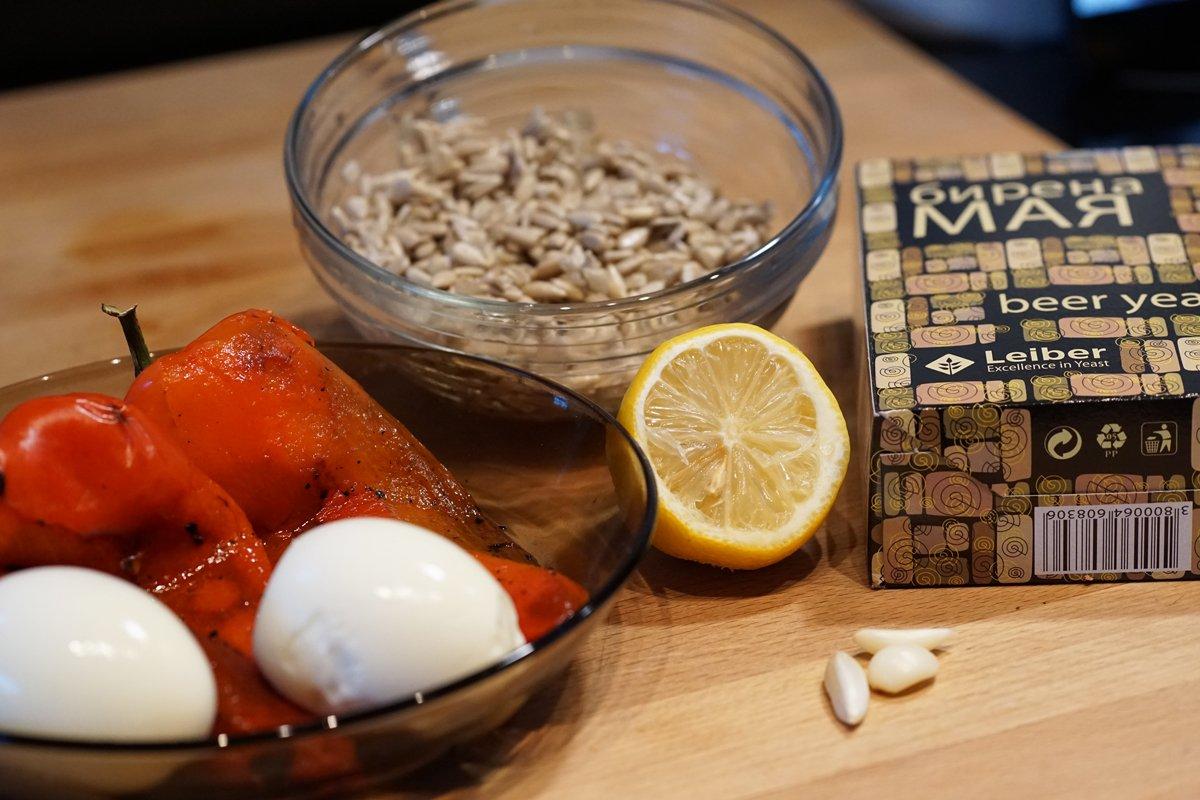 продукти за разядка с печени чушки и бирена мая