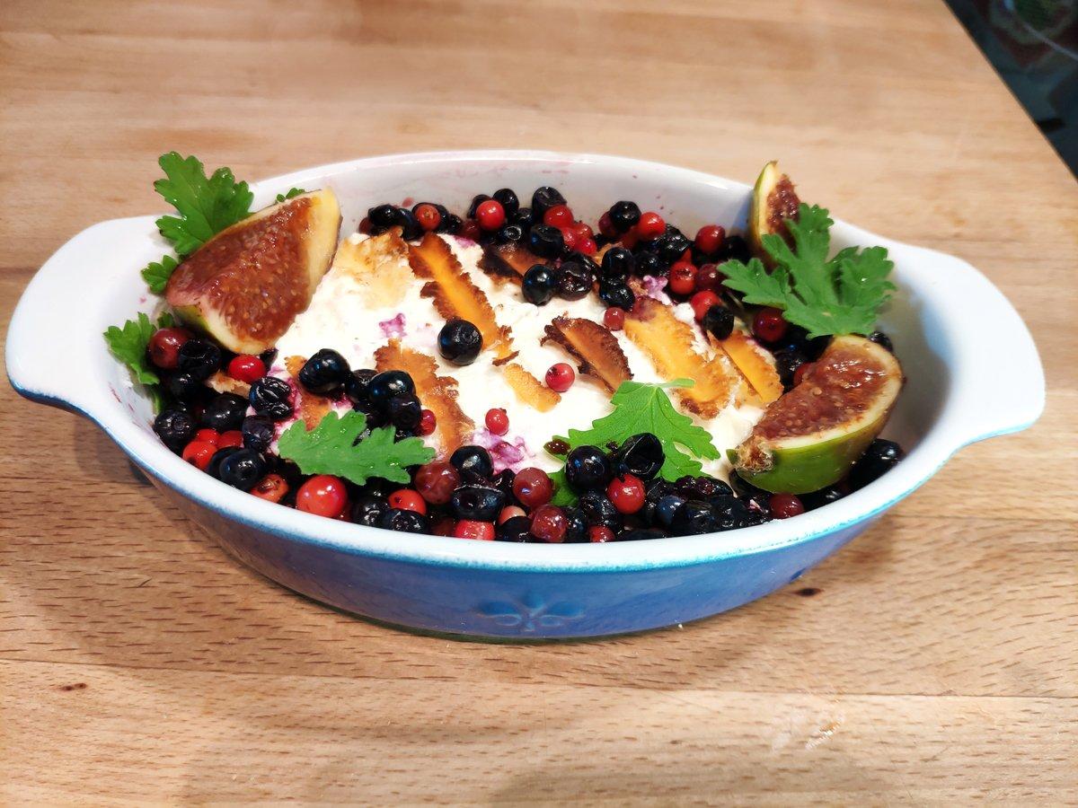 подготовка за печена фета със смокини и боровинки