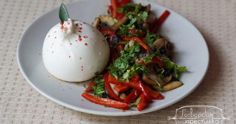 Предястие със сотирани зеленчуци и бурата