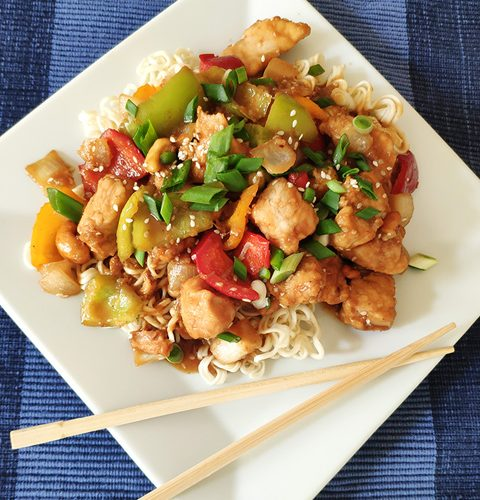 Пилешко Кунг Пао, Азиатска рецепта
