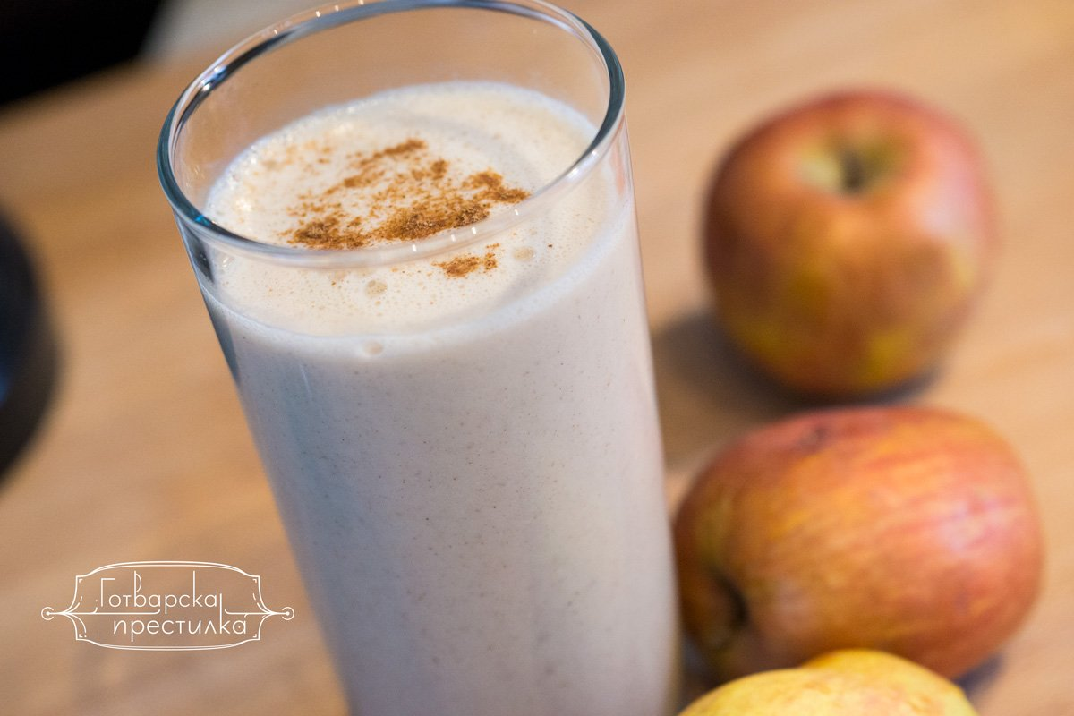 Ароматно смути с овесени ядки и ябълки
